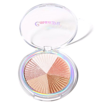 ZEDWELL Baked Highlighter Powder Brighten Skin Color Cover Shimmer Face Contour Pressed Powder