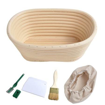 AIHOME Oval Shaped Bread Banneton Proofing Basket with Bread Lame Butter Brush Baking Dough Bowl Gifts for Bakers - image 9 of 9