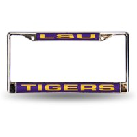 NCAA LSU Chrome Laser License Plate Frame