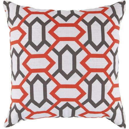 Surya Surya Pillows Area Rugs - FF022 Contemporary Orange-Red Diamonds Trellis Gems Rug