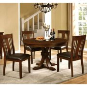 Oxford Transitional Mission Style 5-piece Round Dining Set