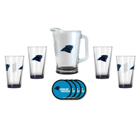 - Carolina Panthers Glass Pitcher Gift Set