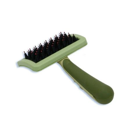 Nylon Grooming (Safari Dog Nylon Coated Tip Brush for Shorthaired)