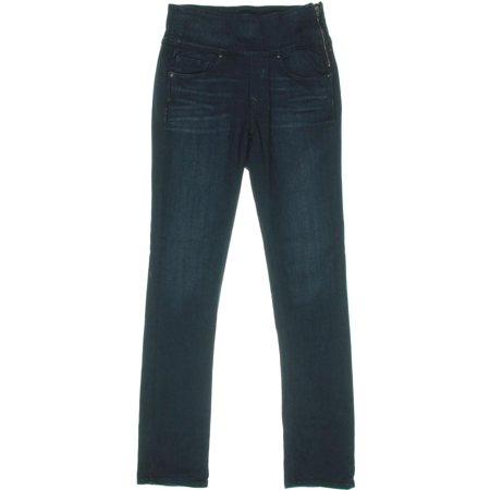 88554e0cc15089 Spanx - Spanx Womens The Signature Straight High Rise Side Zip Straight Leg  Jeans - Walmart.com
