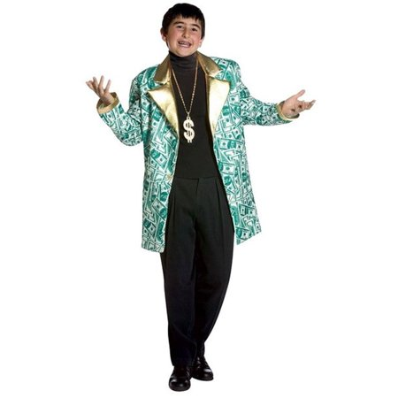 Money Man Costume Jacket Child 7-10](Costume Coats)