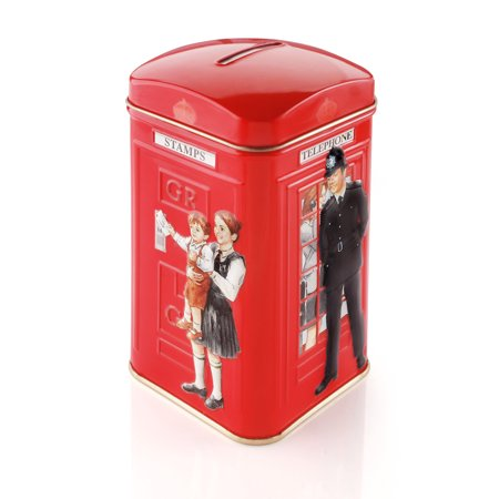 (2 Boxes) Ahmad Tea, Policeman Telephone Box Tea Caddy, 25 ct, 1.8 Oz