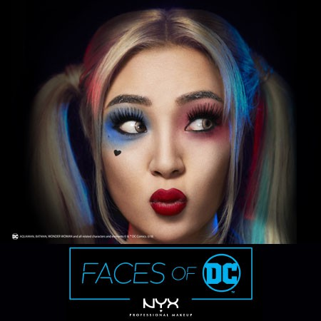 faces of dc harley quinn halloween makeup by xtianaland nyx professional makeup