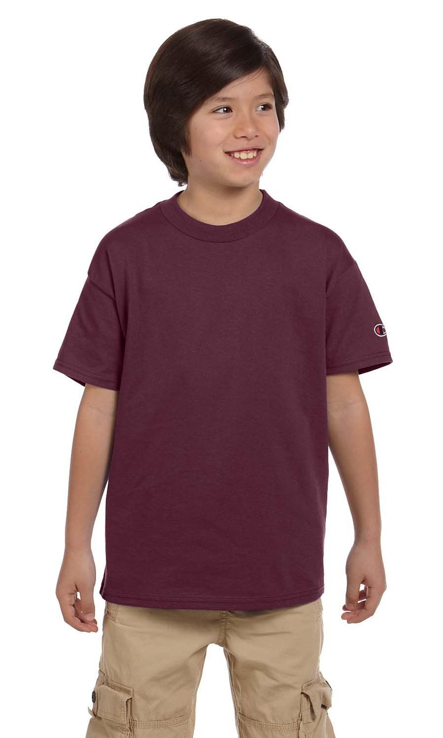 1355130a Champion - Champion Tshirt T435 Youth 6.1 oz. Tagless - Walmart.com