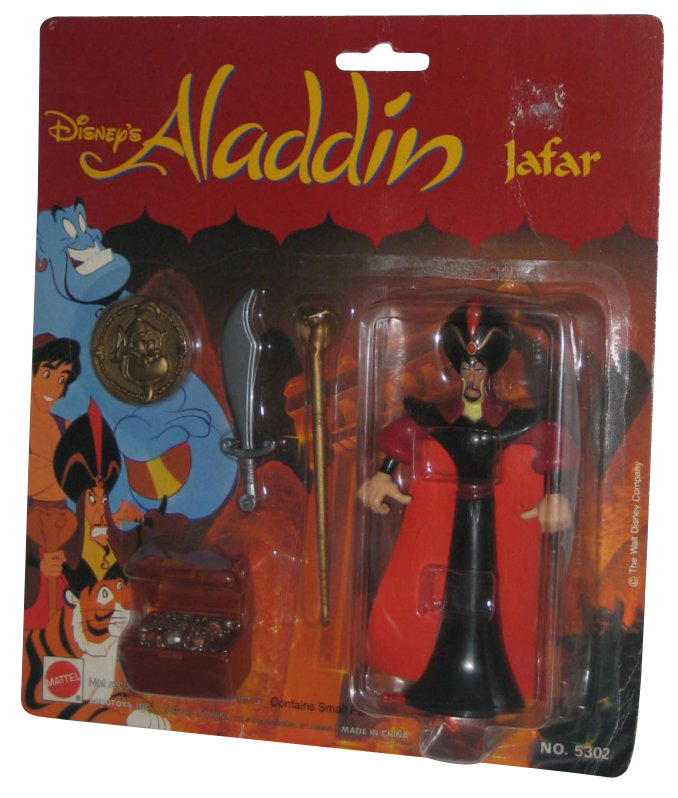 Disney Aladdin TV Series Jafar Mattel Action Figure w  Gold Genie Coin by Mattel