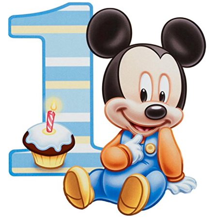 1/2 Sheet Baby Mickey Mouse 1 Year Old Edible Frosting Image Cake Topper](Micky Mouse Cake)