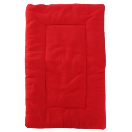 Dog Puppy Cat Soft Warm Sleep Mat Fleece Cushion Small Large Pet Blanket Bed,Red S color