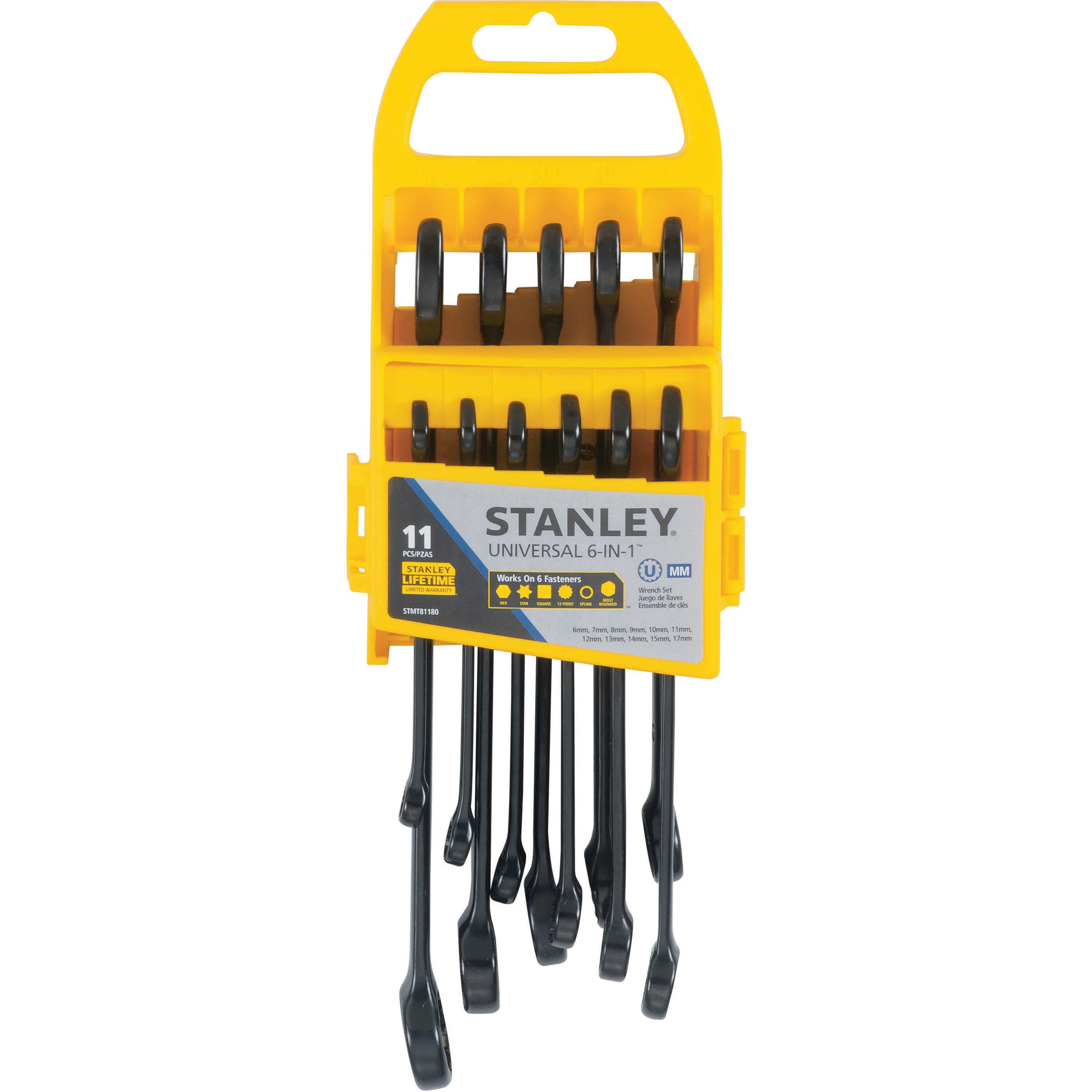 STANLEY STMT81180 11PC Universal Wrench Set MM