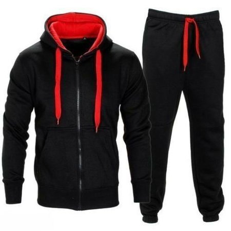 Mens Tracksuit Jogging Top Bottom Sport Sweat Suit Hoodie Coat Trousers Pant covid 19 (Coat Top Pants coronavirus)