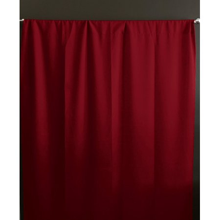 Solid Poplin Window Curtain or Photography Backdrop Cranberry Red ()