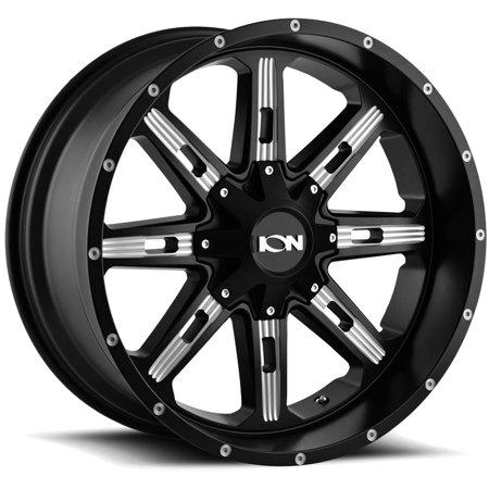 "Ion 184 17x9 5x5""/5x5.5"" -12mm Black/Milled Wheel Rim 17"" Inch"