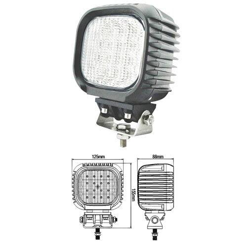 """LED Work Light  - 48W, Square 5"""",  Spot"""