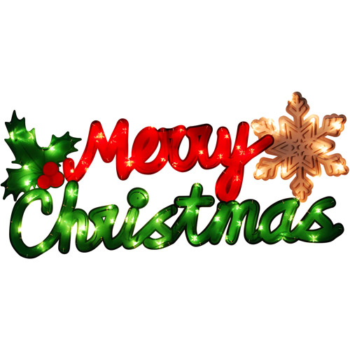 Holiday Time Lighted Merry Christmas Sign - Walmart.com