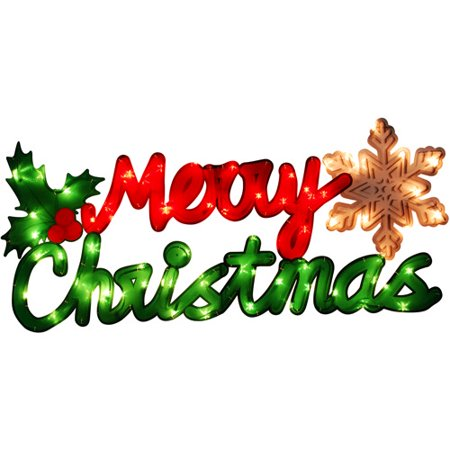 holiday time lighted merry christmas sign