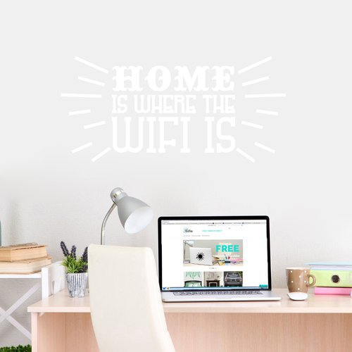 Ebern Designs Home Is Where The Wifi Is Wall Decal
