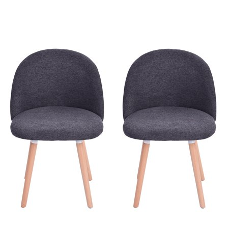 matoen 2PC Velvet Dining Chairs For Living Room Modern Side Mid Century Chairs