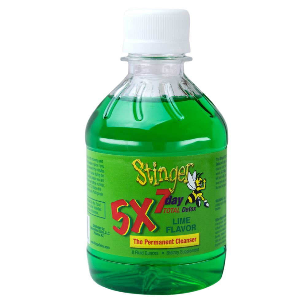 Stinger 7 Day Total Detox 5x Permanent Cleanser Lime Flavor