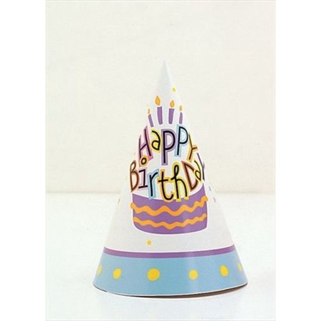 Happy Birthday Party Hats 8 In Package