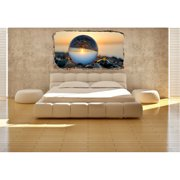 Startonight 3D Mural Wall Art Photo Decor Upside Down Amazing Dual View Surprise Wall Mural Wallpaper for Bedroom Abstract Wall Paper Gift Large 47.24 ?? By 86.61 ??