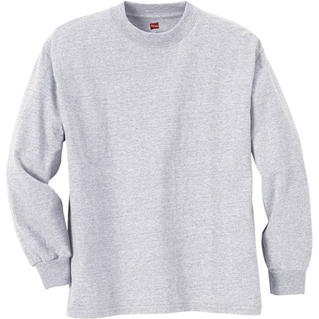 d3164684f45c Hanes - Boys  Long Sleeve Beefy Tees - Walmart.com