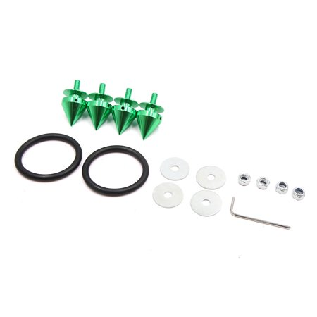 Green Aluminum Alloy Car Bumper Fender Hatch Lids Quick Release Fastener (Lids Car)