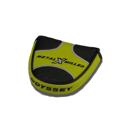 (NEW Odyssey Metal X Milled Mallet 2 Ball Putter Headcover)