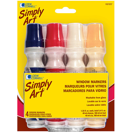 Simply Art Window Markers, 4-Pack