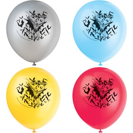 Latex Batman Balloons, 12 in, 8ct