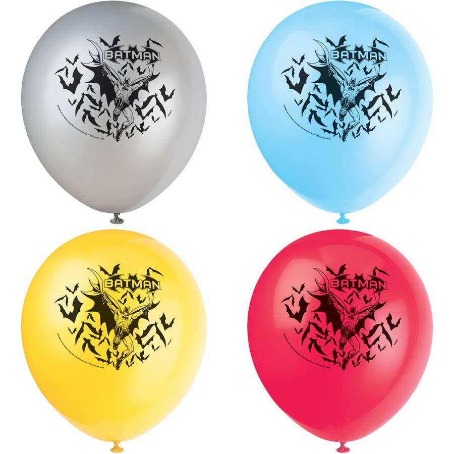 Latex Batman Balloons, 12 in, 8ct