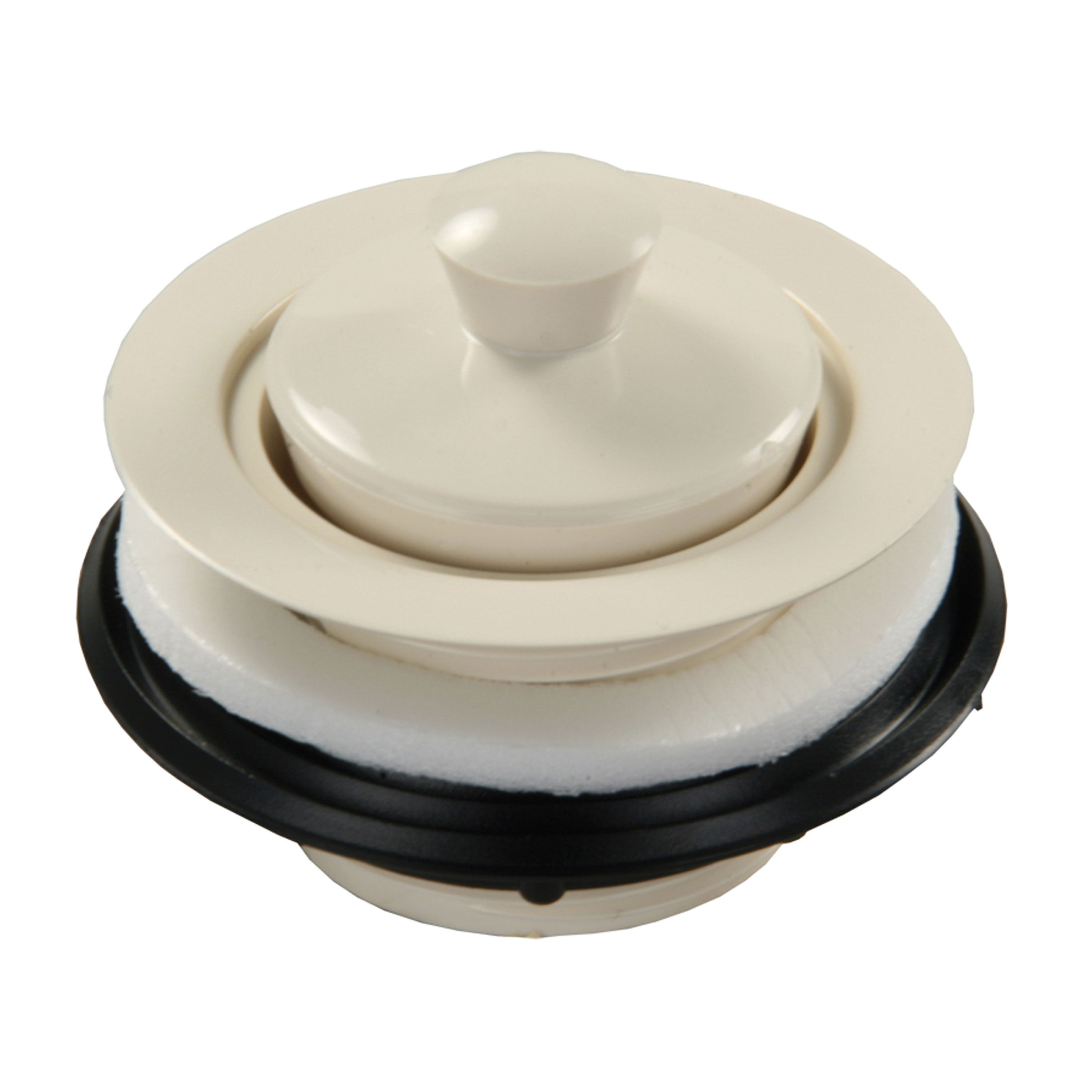 JR Products 95115 Strainer with Pop-Up Stopper - Parchment