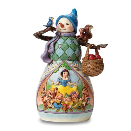 Heartwood Creek Disney Traditions 4046020 Hi Ho Holidays - Snow White Snowman Figurine