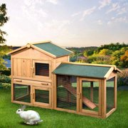 """UBesGoo 61"""" Wooden Chicken Coop House Rabbit Wood Hutch Poultry Cage For Small Animal"""