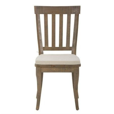 Reclaimed Heart Pine - Jofran Slater Mill Slatback Dining Chair in Reclaimed Pine (Set of 2)