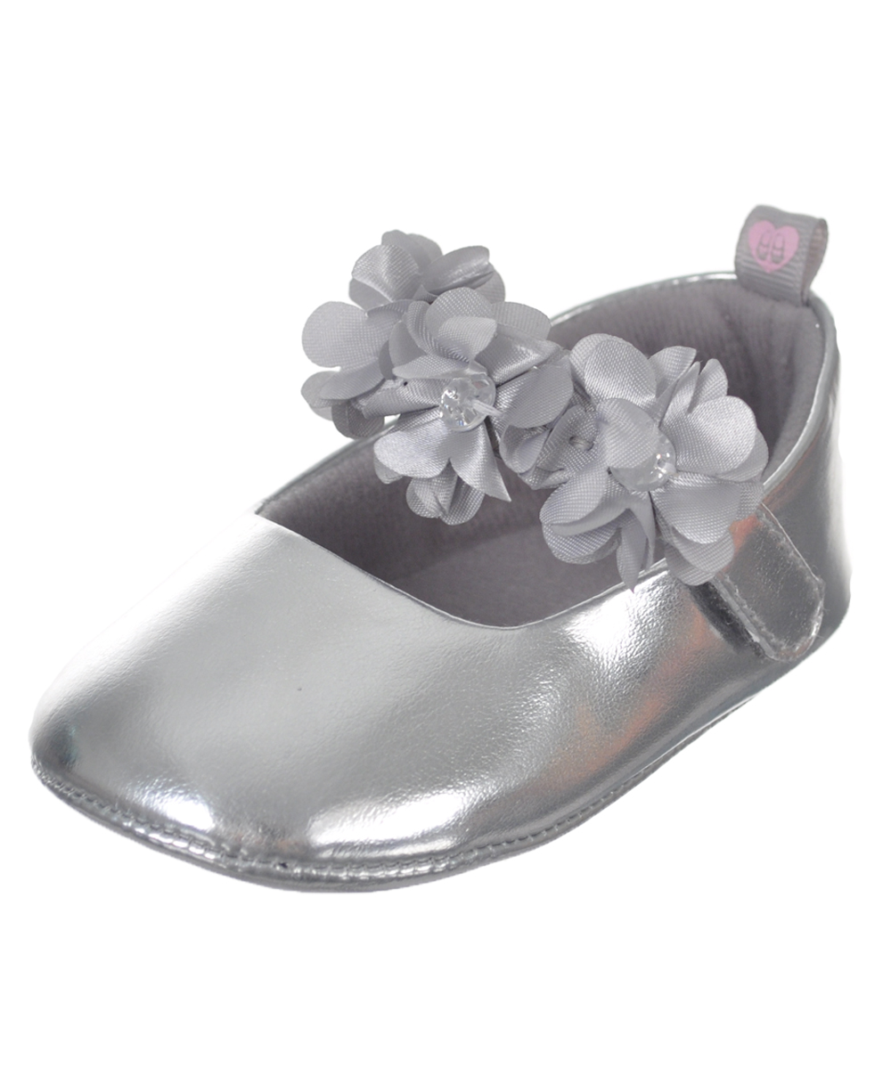 Baby Girls Flower Cluster Booties
