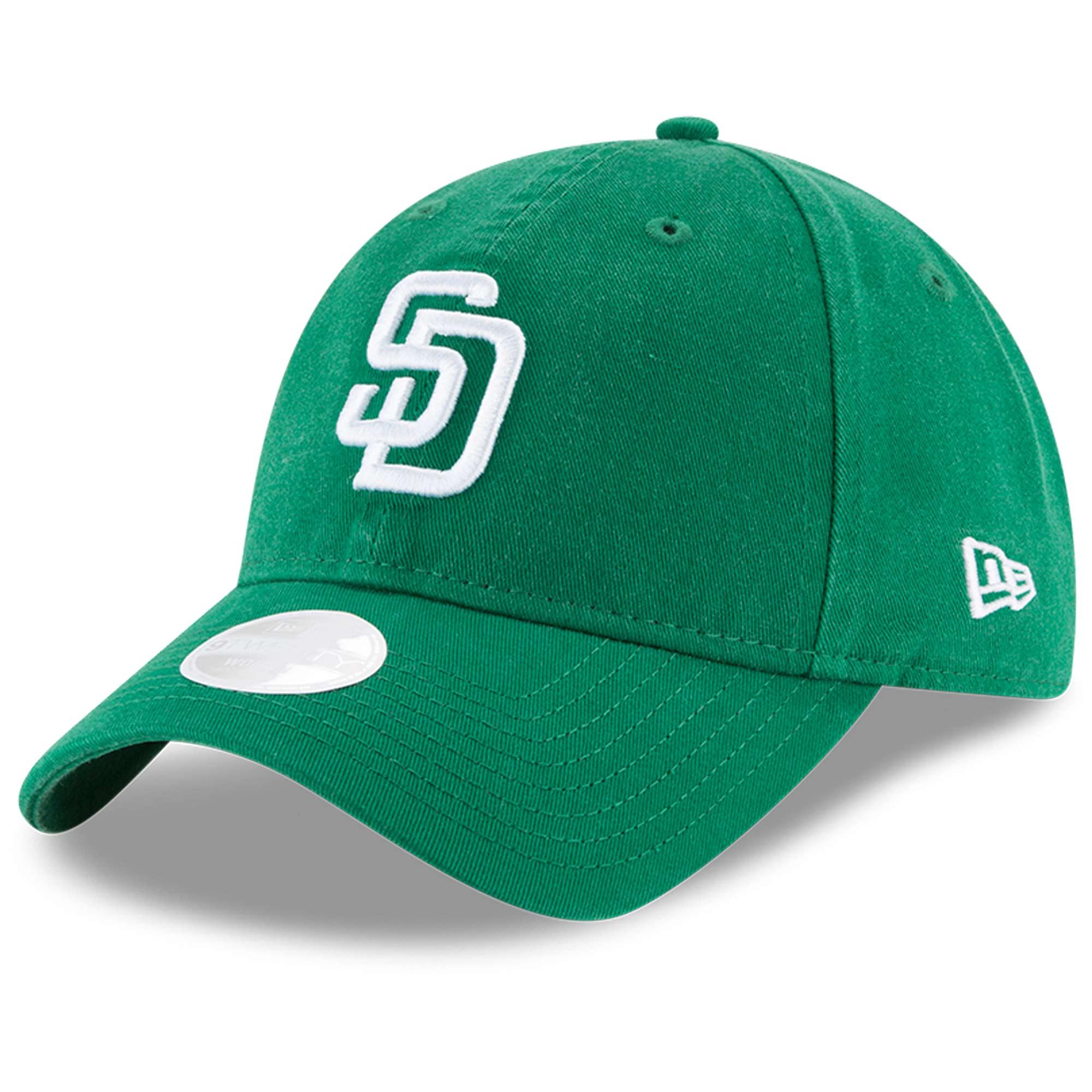 San Diego Padres New Era Women's Core Classic Twill St. Patrick's Day 9TWENTY Adjustable Hat - Green - OSFA