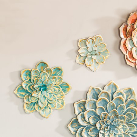 Sedona Metal Wall Flowers - Small - Set of 2 ()