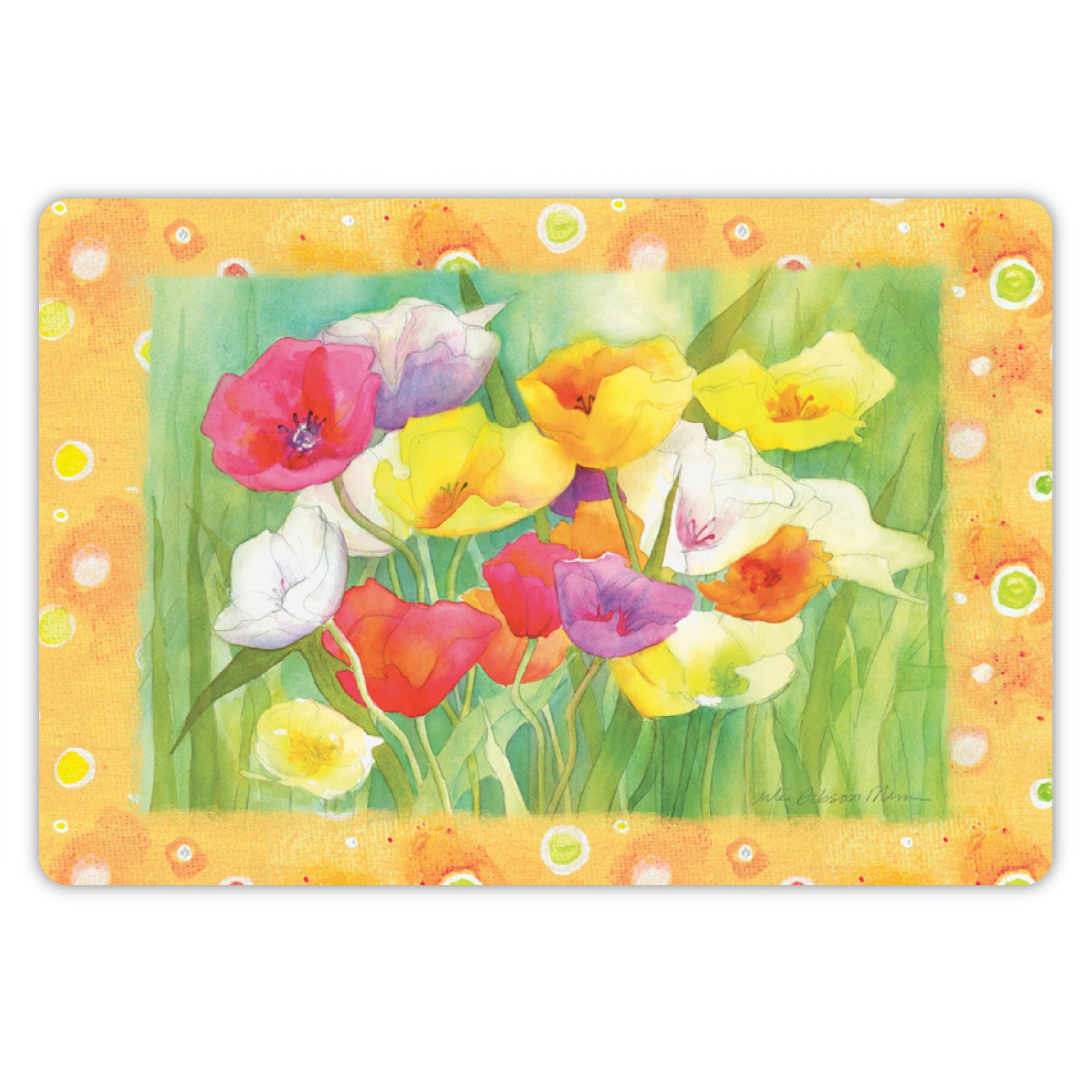 Drymate Spring/Summer Collection Welcome Mat - Poppies