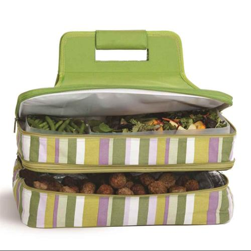 Entertainer Hot and Cold Food Carrier in Lime Rickey