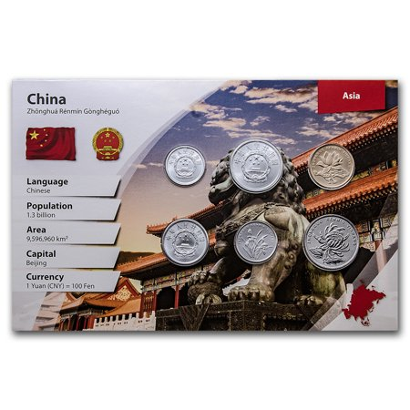 1983-2012 China 1 Fen-1 Yuan Coin Set BU (Landscape (Chinese Old Coins)
