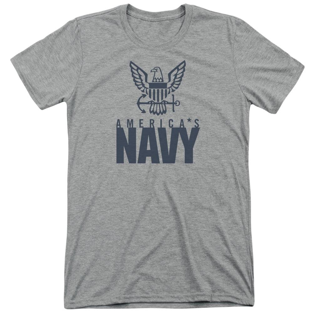 Navy Eagle Logo Mens Tri-Blend Short Sleeve Shirt