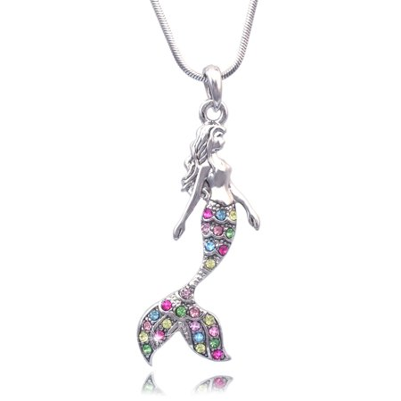 cocojewelry Fairytale Mermaid Pendant Necklace Jewelry
