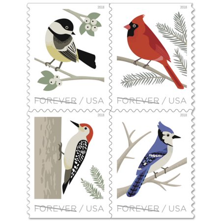 USPS Birds in Winter - 20 First-Class Forever Stamps Stamp Collecting First Day Covers