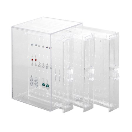 Acrylic Display Stand Earring Storage Box Jewelry Holder Earring Rack Earrings Earings Dangler Eardrop Gift Woman Hanging ()