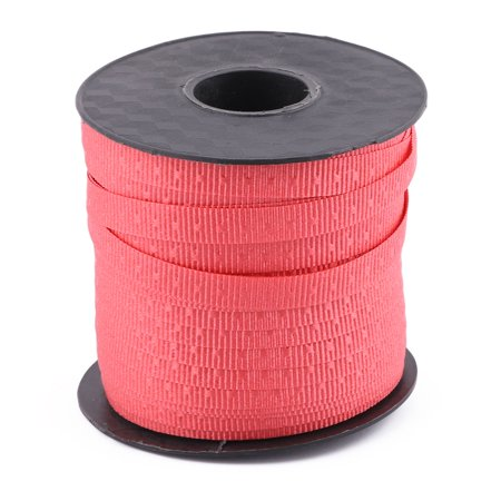 Unique Bargains Festival Polyester Packing String Balloon Tied Rope Ribbon Roll Red 75 Yards (Baloon String)