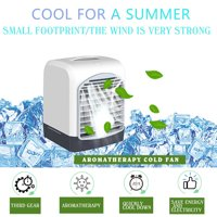 [Freedomgo] USB Mini Air Conditioning Air Cooler Aromatherapy Machine Cold Fan Humidifier