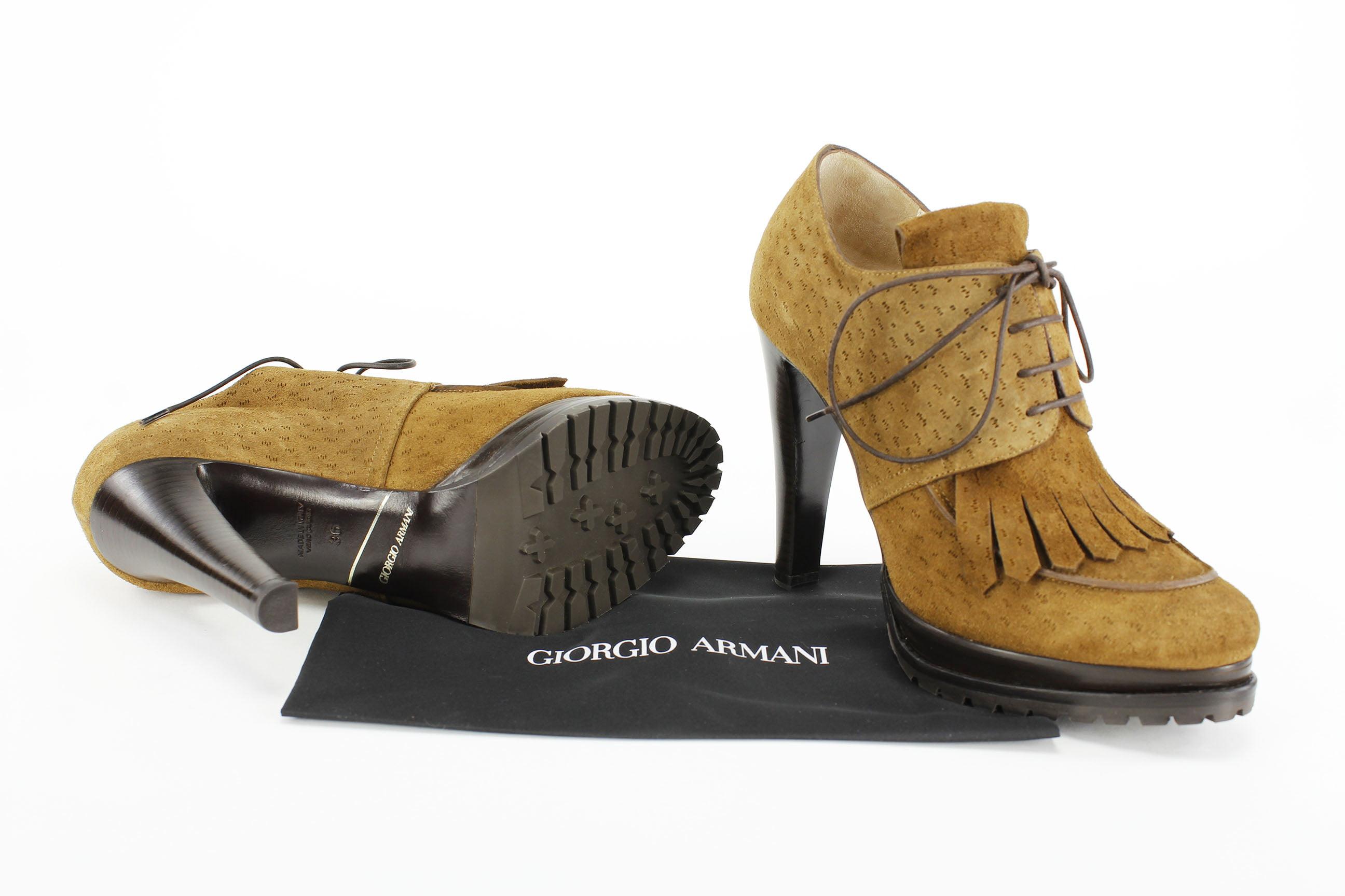 Giorgio Armani Womens Ankle Boots - Brown
